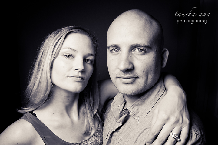 SERIOUS COUPLE BLACK ROOM ONE LIGHT PHOTOGRAPHY