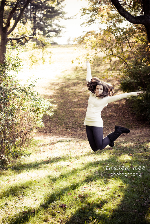 Jumping Senior Photograph HALEY