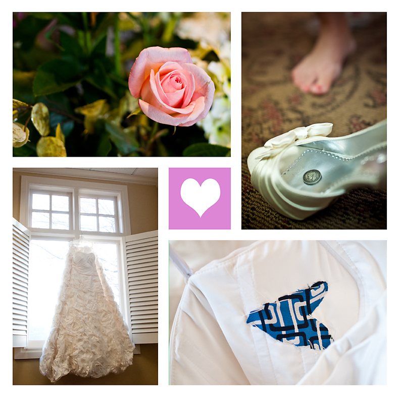 Flowers, Dress, Something Blue, Coin in Shoe