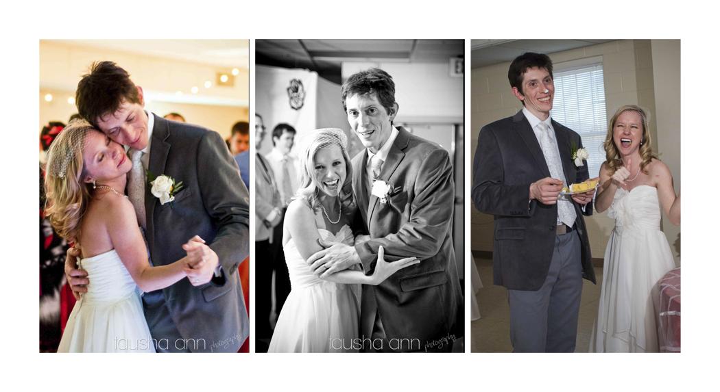 Bride and groom dancing, laughing, cake eatiing, Nashville Wedding Photographer