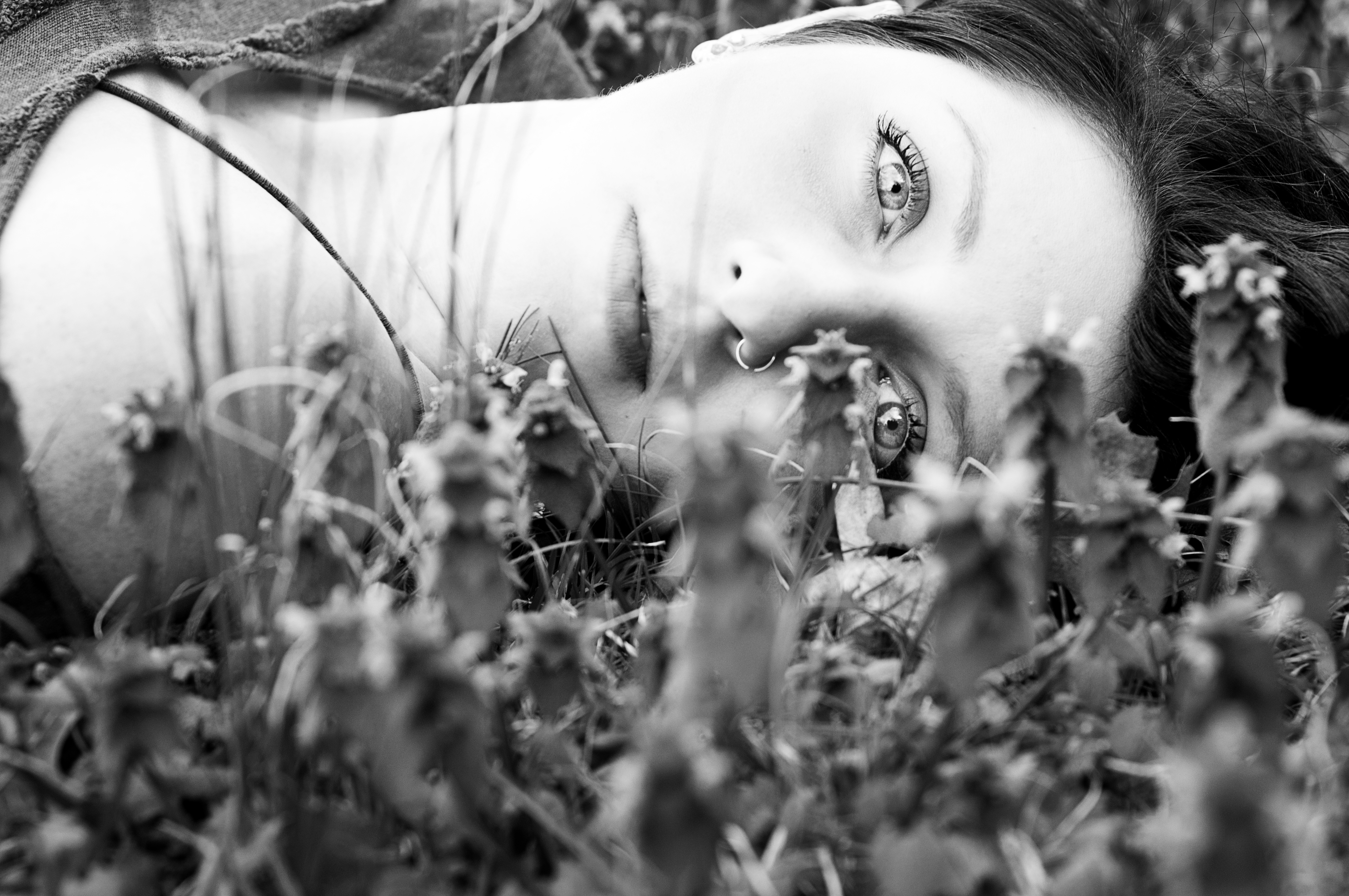 Laying in grass - Nashville Fashion Model Photography