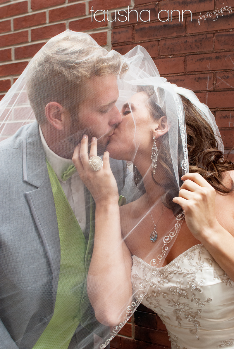 Under Veil Bride & Groom Nashville TN Wedding Photography
