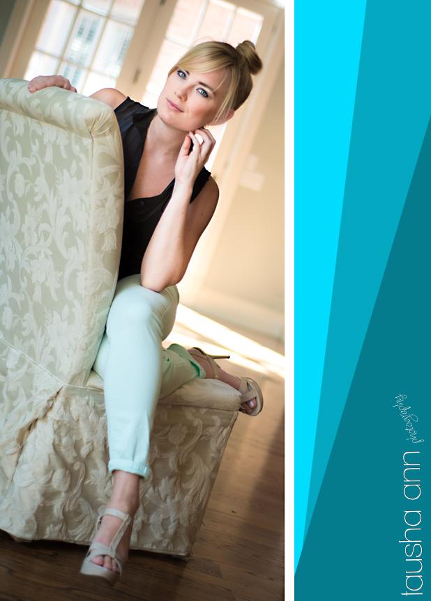 Model photography nashville blue pants