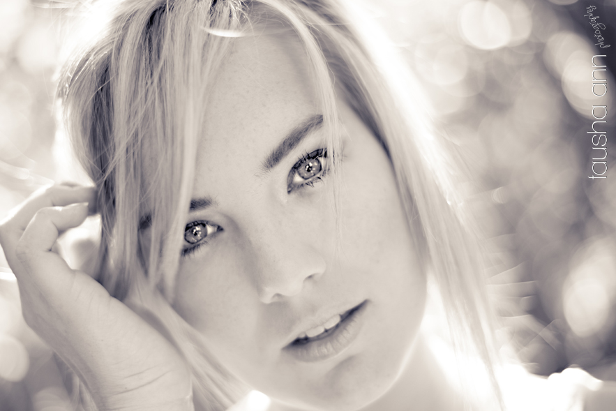 Intense look model photography black and white
