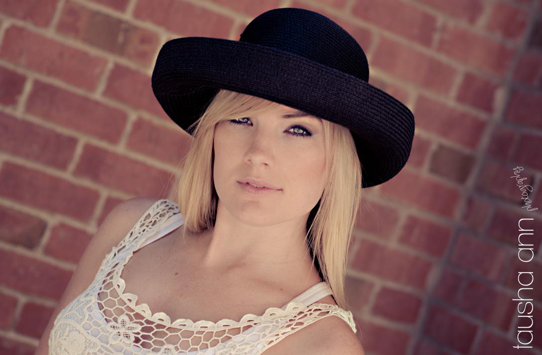 Model photography nashville black hat