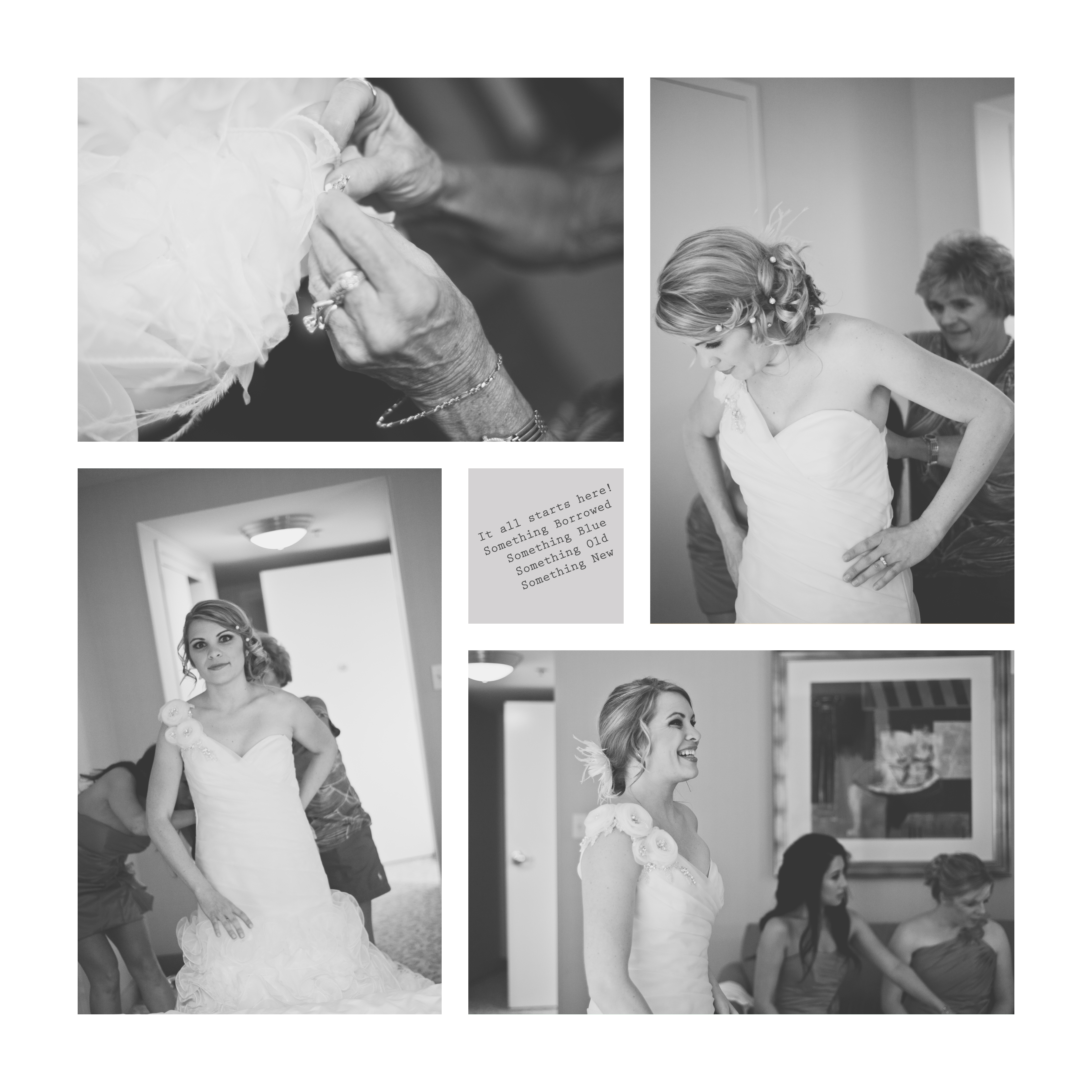 MARRIOTT HOTEL NASHVILLE WEST END BRIDE GETTING READY PUTTING ON DRESS