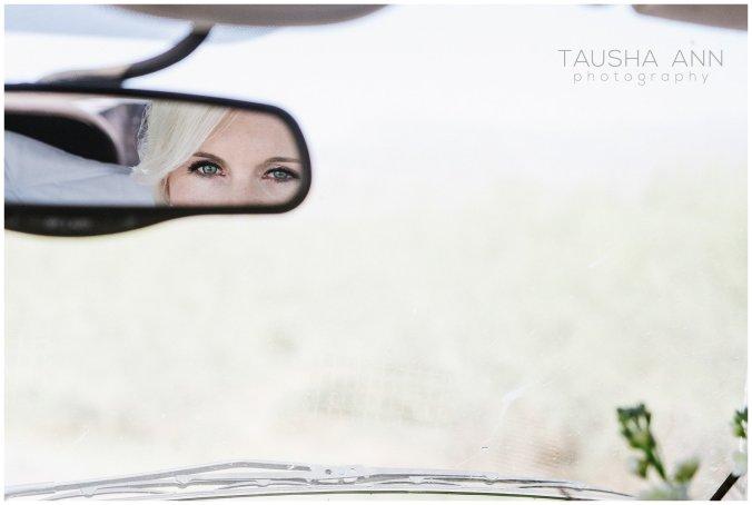 Wedding_Getting_Ready_Bride_Eyes_Rearview_Mirror_Phoenix_AZ_Tausha_Ann_Photography